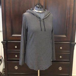 EDDIE BAUER XL hoodie pullover stripe top T-shirt
